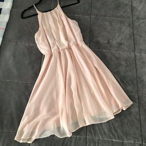 Soft blush dress!